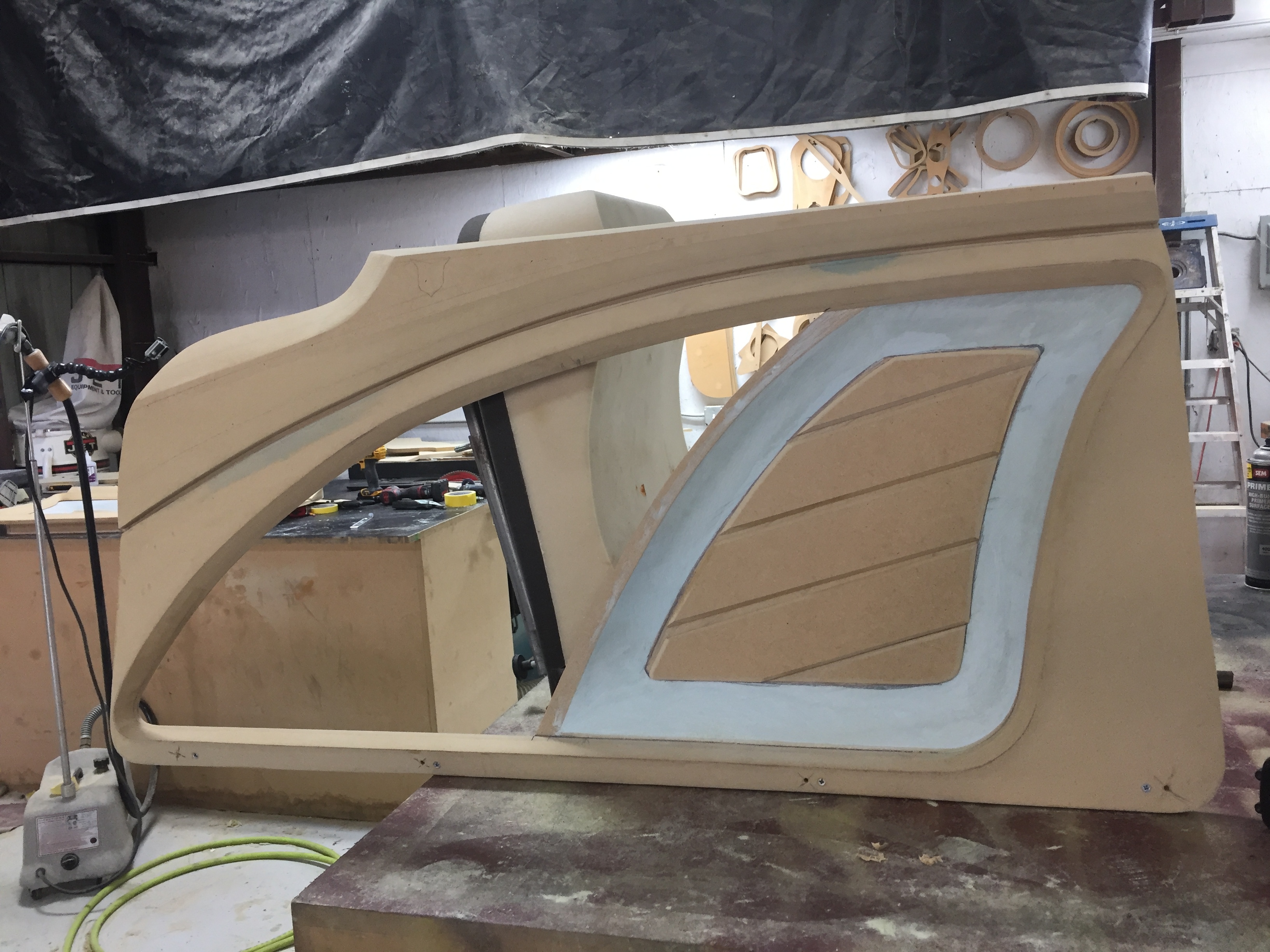 door panels from scratch - Slim Thugs 1959 Cadillac - Texas Metal