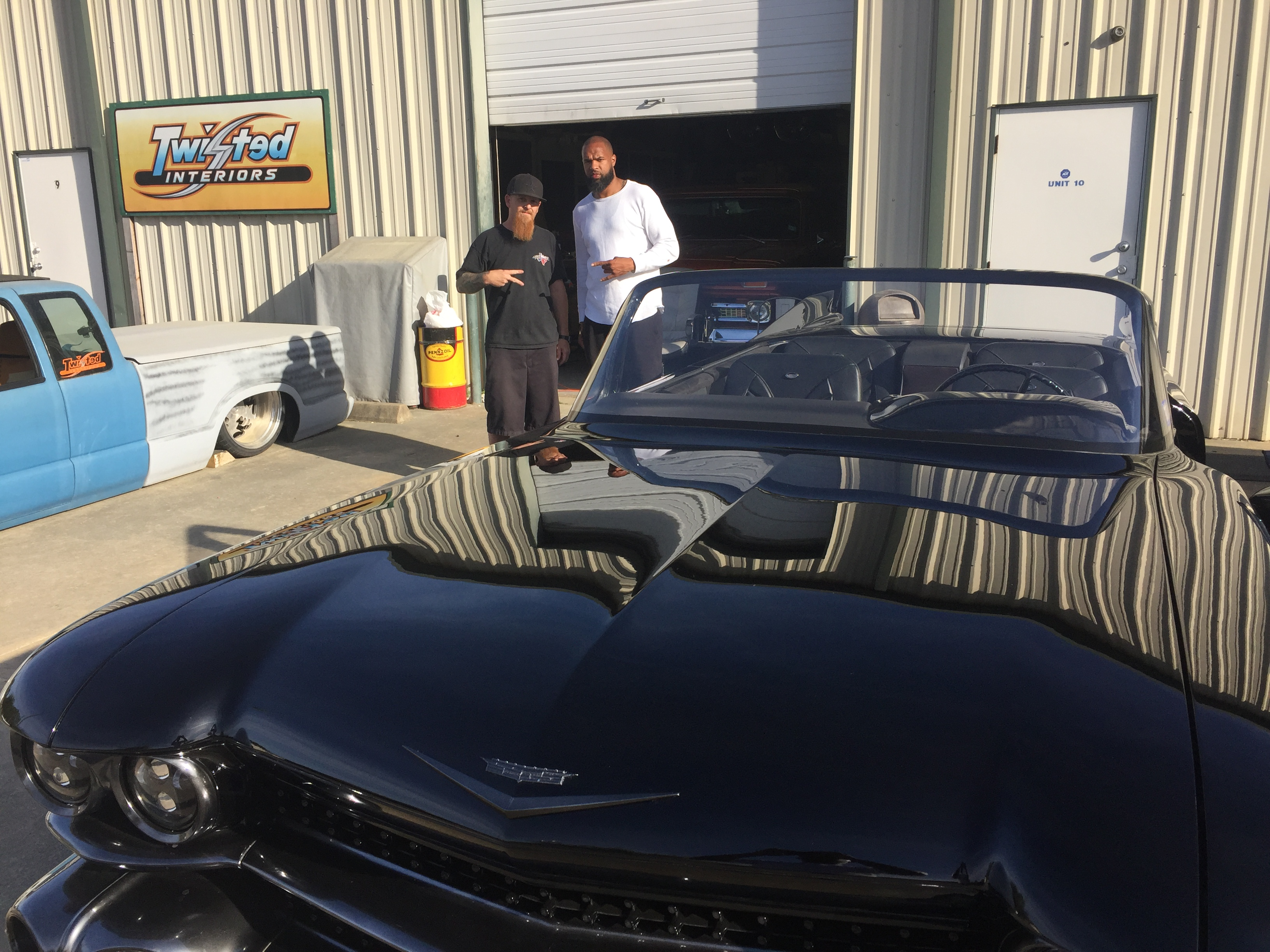 John Burgess and Slim Thug at Twisted Interiors - Slim Thugs 1959 Cadillac - Texas Metal
